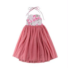 girl dress back tie Canada - Fashion Cute Baby Girl Tie Back Comfort Dresses Pageant Flower Girl Dress Kids Birthday Wedding Bridesmaid Gown Formal Dresses