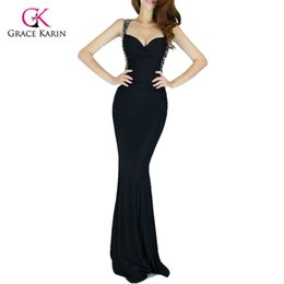 44056d0e14 Evening Dress Grace Karin 2018 Women cheap Backless Blue Red Slim-line Sexy Bodycon  Party Long Black Formal Gown Mermaid Dresses