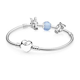 Fit books online shopping - PASINIYA Book Di Sterling Silver Donald and Daisy Bracelet Set fit DIY Original charm Bracelets jewelry A set of prices