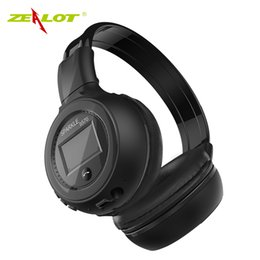 wireless headphones sd slot UK - Zealot B570 Bluetooth Headphone Foldable Hifi Stereo Wireless Earphone With LCD Display Screen Headset FM Radio Micro SD Slot