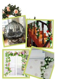 $enCountryForm.capitalKeyWord NZ - 2018 emulation of rose spun rattan. Air conditioning, water pipe, attic, home vines flower decoration, wedding festival flower art.