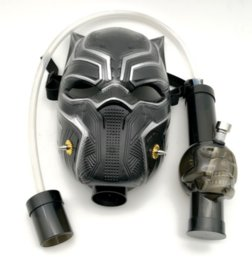 Black gas masks online shopping - Gas Mask Bong NEW Arrivel Black Panther Water Shisha Acrylic Smoking Pipe Sillicone Mask Hookah Tobacco Tubes