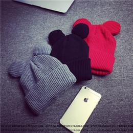 $enCountryForm.capitalKeyWord NZ - Devil Horns Ear Cute Crochet Braided Knit Beanies Winter Acrylic Warmer Cap Solid Color Slouchy Snow Hat Hair Bonnet For Women Pom Gorro