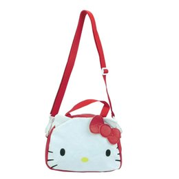 6664200bae0ae Hello Kitty Travel Bags UK - Cartoon Hello Kitty Vintage Canvas Children  Single Shoulder Bag Leisure