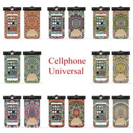Free Cellphone Cases Australia - Women Cellphone Waterproof Bag Mandala Painting Mobile Phone Pouches Ultraviolet Sensor Armband Lanyard Universal Phone Case Free DHL A759