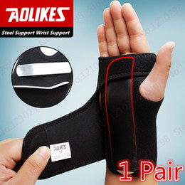 $enCountryForm.capitalKeyWord Australia - New Steel Plate Palm Wrist Hand Protector Brace Wrist Protecting Palms Support Removable Adjust Sport Hand Palm Wristbands