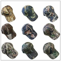 5fd0d00234c0c0 9 Colors Camouflage Baseball Caps Army Camo Cap Tactical Baseball Adjustable  Casquette Camouflage Military Hats Outdoor Hats CCA10028 50pcs