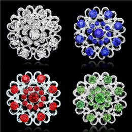 Bridal Brooch Flower NZ - Fashion Silver Plated Environmental Hollow Out Heart Flower Crystal Brooch Pins for Women Bridal Brooches Dress Accessory Wholesale Price