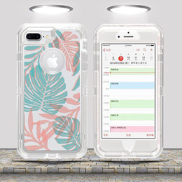Clear patterned iphone 6s Case online shopping - For Samsung galaxy s9 Note Clear Artistic Pattern Robot Case for iPhone X s Hybrid Crystal Graphics Defender Cover Cases