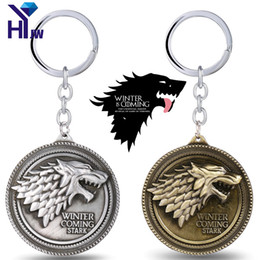 $enCountryForm.capitalKeyWord Australia - Game of Thrones House Targaryen Emblems Three Headed Dragon Keychain Stark Direwolf Key Holder Souvenir Lannister Lion Key Rings
