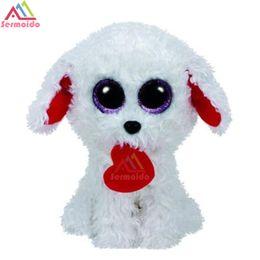 sermoido TY 6   Beanie Boos RUBBLE Bulldog Reg Plush Collectible Soft Big  Eyes Plush Animal Toys For Kids DBP55 a8825443bb03