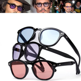 b3b64761ef4 Vintage Johnny Depp Robert Downey Jr Sunglasses Retro Fashion Full Rim Men  Sun Glasses Rx able