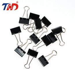 $enCountryForm.capitalKeyWord NZ - THD 12Pcs 15 19 25 32mm Black Metal Binder Clips Notes Letter Paper Clip Office Supplies Binding Securing Stationery Accessories