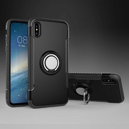 cell phone case ring 2019 - New iphone XS Bracket anti crash shell For iPhone XR Case Cell Phone For Apple iPhone X Finger ring Back Cover Case chea