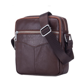 Chinese  Cow Genuine Leather Messenger Bags Men Travel Business Crossbody Shoulder Bag for Man Sacoche Homme Bolsa Masculina manufacturers