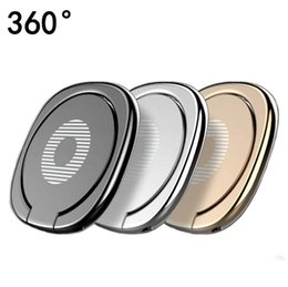 ring finger phone holder 2020 - Luxury 360 Degree Metal Finger Ring Holder Smartphone Mobile Phone Finger Stand Holder For iPhone Samsung Tablet with Pa