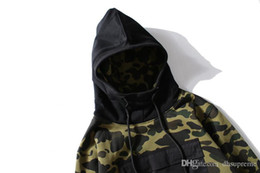 bape jacket xl UK - 2018 New Lover Camouflage Hooded Jacket Men Women Camouflage Zipper Cardigan Hip Hop Hoodie Tops Sizes M-2XL