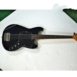 black color guitar Canada - New high quality GYPB-6016 Black color black plate rosewood fretboard beautiful Precision Bass Guitar, Free shipping