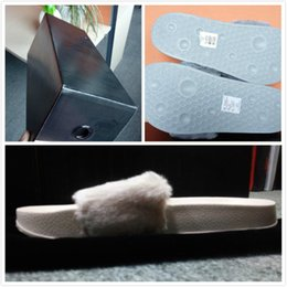 8ec2d4b129d (Dust Bags+ Box)Rihanna Fur Leadcat Fenty Slides Women Men Slippers House  Winter Slipper Home Shoes Woman Warm Slippers womens sandals