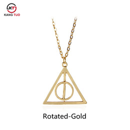 $enCountryForm.capitalKeyWord Australia - Hot Sale Movie Deathly Hallows Necklace Fashion Rotated Triangle Pendant Chain Jewelry For Women&Men