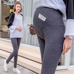 $enCountryForm.capitalKeyWord Australia - Spring New Maternity Leggings High Waist Pregnancy Belly Pants For Pregnant women Maternity Thin Trousers Clothes Leggings Y047