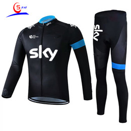 sky cycling jersey blue UK - 6 style hot pro cycling clothing long sleeve suit men' thin bike suit moisture absorption perspiration sky cycling clothing cycling Jerseys