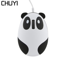 $enCountryForm.capitalKeyWord NZ - CHUYI Super Cute Wired Mouse Cartoon Panda Shape Mini Mouse Novelty Portable Unique Small Laptop PC Computer Mice for Kids Girls