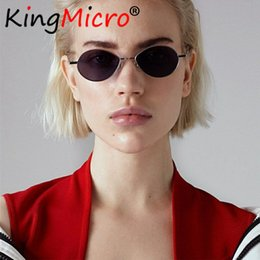 ebe6319b1a 2018 Retro Men Oval Sunglasses Fashion Unisex Small Frame Colorful HD Thin  Face High Quality Women Sun Glasses UV400 Red Black