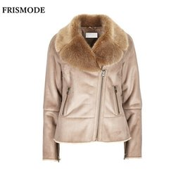 d8fb05dfdcb S-7XL Winter Female Faux Fur Shearling Jacket 2017 Fashion Thick Warm  Casual Plus Size Women Suede Leather Double-faced Fur Coat