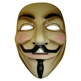 V Vendetta Cosplay UK - cosplay mask 5pcs Party Cosplay mask V for Vendetta Anonymous Guy Fawkes Fancy Dress Adult Costume Accessory macka mascaras halloween masque