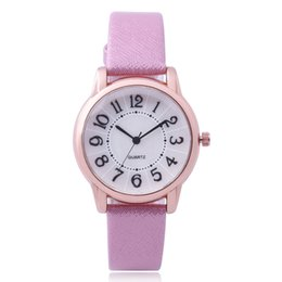 Wholesale Classical Numbers Fashion Brand Women Watch PU Leather Strap Wristwatch Ladies Luxury Watches Clock Gifts Mujer Montre Feminino