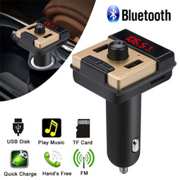 Usb Mp3 Player Adapter Australia - Car Kit Wireless Bluetooth Car MP3 Player FM Transmitter Radio Adapter Hands Free Kit 5V 2.5A USB Charger 30NT05