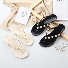 78dc3da08a59 Bailehou Women Slippers Summer Beach Slippers Flip Flops Sandals Women  Pearl Fashion Slippers Ladies Flats Shoes Free shipping