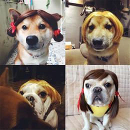$enCountryForm.capitalKeyWord Australia - MEETEE Pet Costume Dog Cute Wigs Mane Hair Wavy Festival Party Fancy Dress Halloween Costume pet hair accessories DC-186