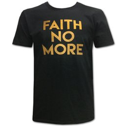 $enCountryForm.capitalKeyWord UK - Faith No More Men'S Gold Text Slim Fit T-Shirt Large Black Tee Shirt Men Brand Clothing Short Sleeve Crewneck Cotton Plus Size Custom