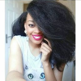 $enCountryForm.capitalKeyWord NZ - Brazilian Full Lace Virgin Human Hair Wigs With 130% Density For Black Women Kinky Straight Lace Front Wigs
