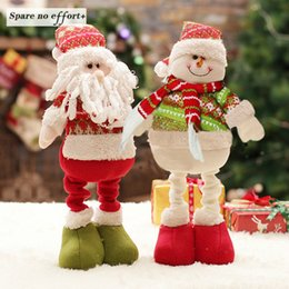 $enCountryForm.capitalKeyWord NZ - Retractable Christmas Santa Claus Snowman Dolls Standing Navidad Figurine Christmas tree Ornaments Kids Gifts Toy