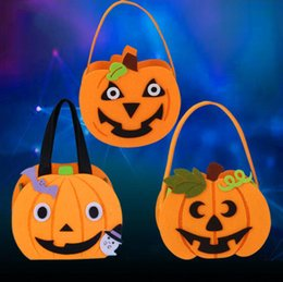 $enCountryForm.capitalKeyWord Australia - Kids Halloween Party Pumpkin Handbag Candy Bags Children Halloween Party Gift Handbag Props Halloween Party Decorations