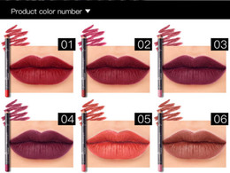 $enCountryForm.capitalKeyWord NZ - Original Pudaier 12 Colors Waterproof Lips Liner Long Lasting Matte Makeup Set Lipstick Pencil Lipliner Sexy Stereoscopic Kits DHL Free Ship