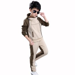 a10be7d8733 Boys suits 14 online shopping - Boy Hooded Tracksuit Clothes set Kids  Spring Autumn Cotton School