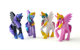 $enCountryForm.capitalKeyWord UK - 4pcs Lot Anime Kawaii Action Figures Cartoon Unicorn Pets Horse Best Kids Toys Christmas Little Gift