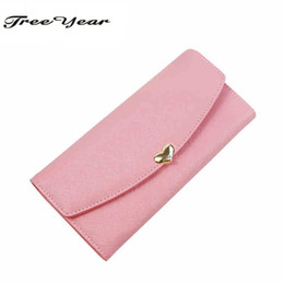 short chain designs UK - 2016 Fashion Wallets Long Design Ladies Clutches Coin Purse Card Holder PU Leather Women Wallet 10 Colors Cute Diamond 3 Folds