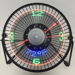 $enCountryForm.capitalKeyWord NZ - 6 Inch 3-in-1 Desktop Temperature LED Display Clock Fan Mini USB Table Fan Q0571