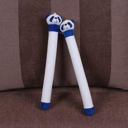Venta al por mayor de Envío gratis Big cabeza Kungfu juguete panda peluche Nunchaku cumpleaños presente Día de los niños Muñeca ejercicios