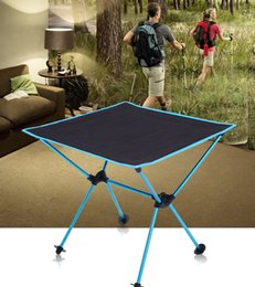 Folding Tables Aluminum NZ - Portable Folding Outdoor Barbecue Picnic Table Oxford Cloth Aviation Aluminum Alloy Multifunction Creative Summer Travel Necessities Table