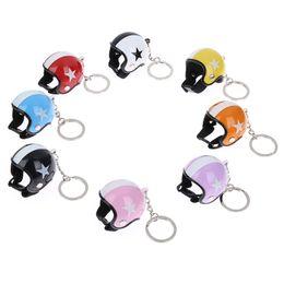 $enCountryForm.capitalKeyWord UK - Motorcycle Safety Helmets Keychain Car Auto Five-star Pendant Mini 3D Helmets Key Ring Holder Car Accessories