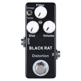 guitar multi effect 2019 - MOSKY BLACK RAT Distortion Guitar Effect Pedal Compulsive True Bypass Distortion