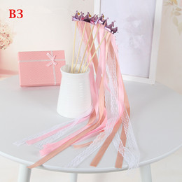 $enCountryForm.capitalKeyWord Australia - Romantic Crown Ribbon Fairy Wand Twirling Wedding Ribbon Streamer Stick Party Props Featival Party Decoration Christmas