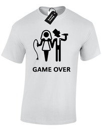 49c30860 GAME OVER MENS T SHIRT FUNNY WEDDING BRIDE GROOM DESIGN GIFT PRESENT JOKE  HUMOUR
