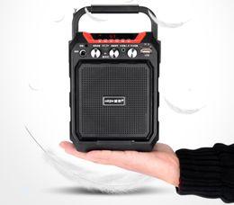 "Discount karaoke speakers - 4"" Rechargeable Party Speaker KTV System Karaoke Bluetooth Wireless Speaker USB SD FM Record with Retail Box"